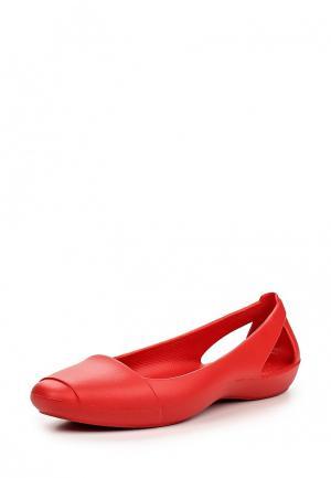 Балетки Crocs. Цвет: красный