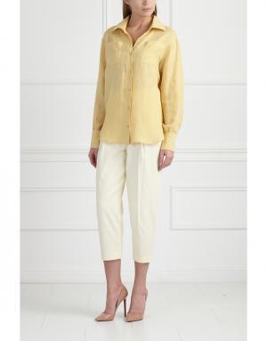 Рубашка MoS. Цвет: желтый