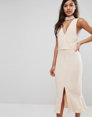 Lavish Alice Платье миди. Цвет: розовый
