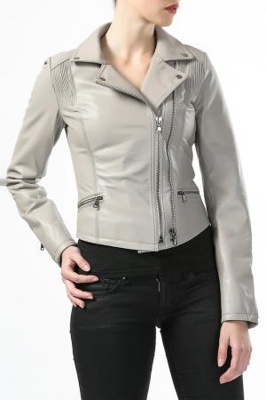 Кожаная куртка Antonella Favelli. Цвет: бежевый