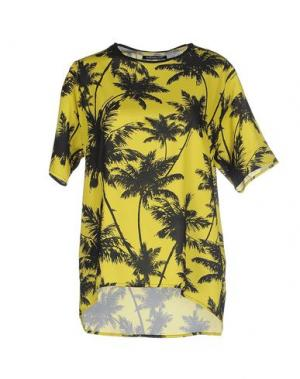 Блузка NINEMINUTES. Цвет: желтый