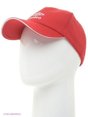 Бейсболка Umbro. Цвет: красный