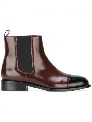 Ботинки челси Marni. Цвет: красный