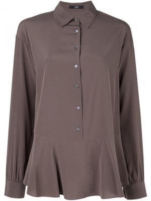 Блузка с баской Steffen Schraut. Цвет: коричневый