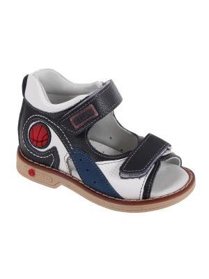 Детская обувь TIFLANI. Цвет: синий, белый