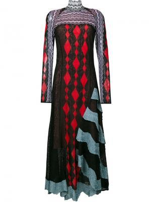 Жаккардовое платье Peter Pilotto. Цвет: чёрный