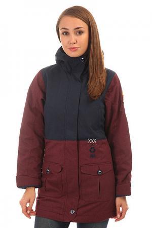Куртка женская  Symbol Aubergine Picture Organic. Цвет: бордовый,синий