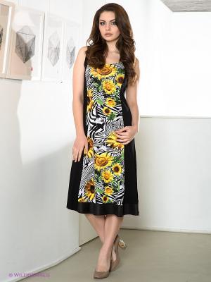 Платье DORISStreich. Цвет: желтый, черный