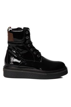 Ботинки U.S. Polo Assn.. Цвет: черный