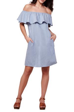 Платье YUMI. Цвет: голубой