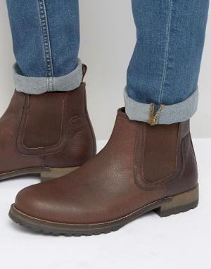 Red Tape Коричневые кожаные ботинки челси. Цвет: коричневый