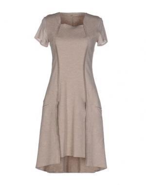 Короткое платье MARITHÉ + FRANÇOIS GIRBAUD. Цвет: бежевый