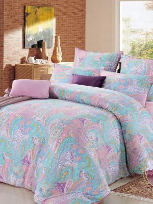 Комплект постельного белья, Мессина, 1.5 спальный KAZANOV.A.. Цвет: голубой, розовый