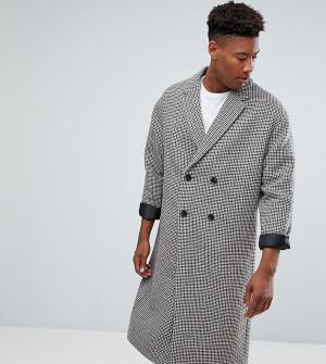 ASOS Полушерстяное пальто TALL. Цвет: коричневый