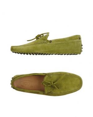 Мокасины TOD'S. Цвет: зеленый-милитари