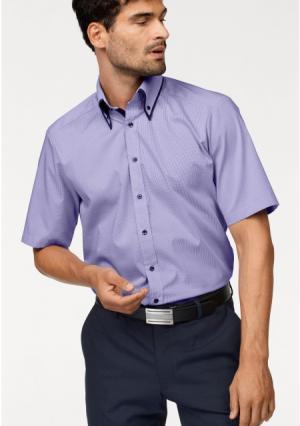 Рубашка BRUNO BANANI. Цвет: лиловый/белый