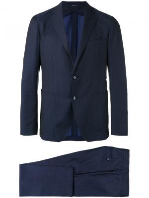 Классический костюм-двойка Tagliatore. Цвет: синий