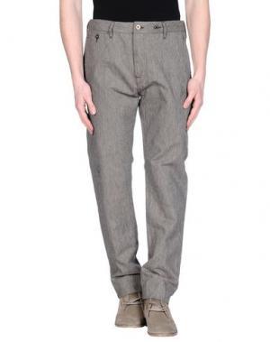 Повседневные брюки UNIFORM. Цвет: серый