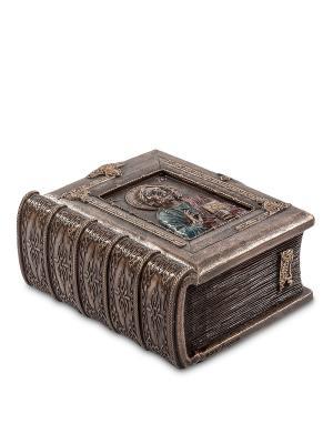 Шкатулка Библия Veronese. Цвет: серебристый
