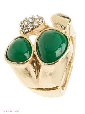 Кольцо AVGAD. Цвет: золотистый, зеленый