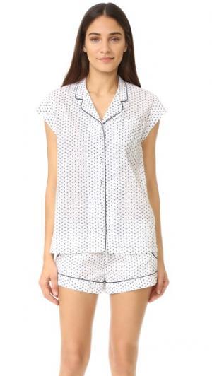 Пижама Olivia Three J NYC. Цвет: белый темно-синий с сердечками