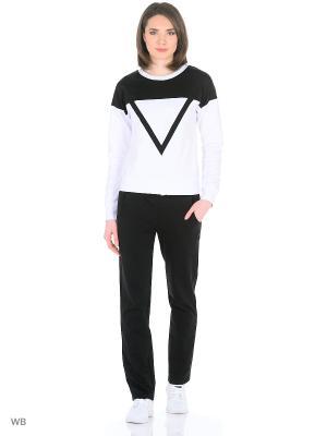 Спортивный костюм FORLIFE. Цвет: черный, белый