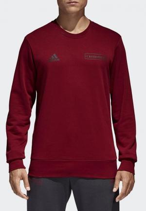 Свитшот adidas. Цвет: бордовый