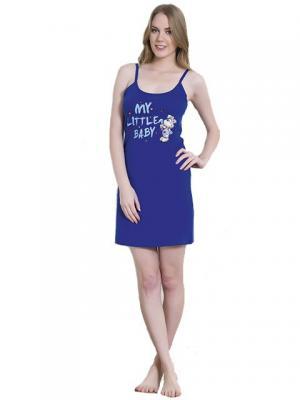Ночная сорочка Vienetta Secret. Цвет: синий