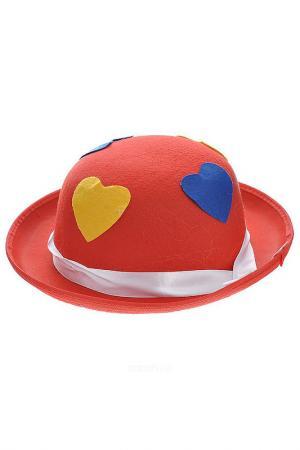 Маскарадная шляпа Клоунская MAGIC HOME. Цвет: красный, желтый