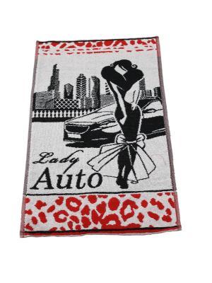 Полотенце махровое пестротканое жаккардовое 70x40 (Lady Auto) Авангард. Цвет: черный,красный,белый
