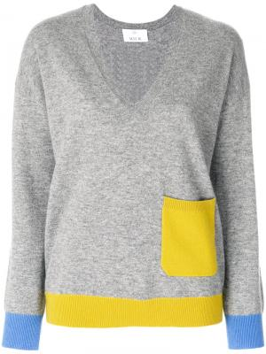 Contrast pocket jumper Allude. Цвет: серый