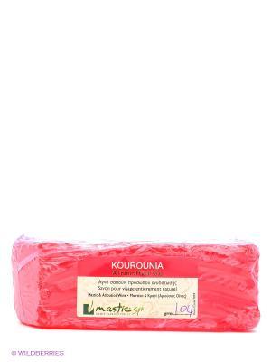 Мыло для лица кусковое с вином Kourounia Mastic Spa. Цвет: красный