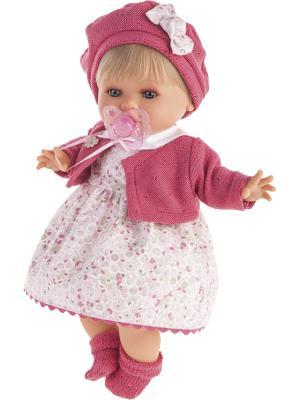 Кукла Кристиана в малиновом, плачущая, 30 см Antonio Juan. Цвет: малиновый, бледно-розовый