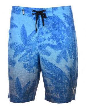 Пляжные брюки и шорты HURLEY. Цвет: ярко-синий
