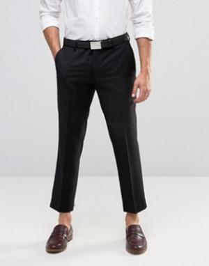 Farah Укороченные брюки скинни. Цвет: черный