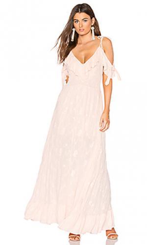 Платье keira MISA Los Angeles. Цвет: розовый