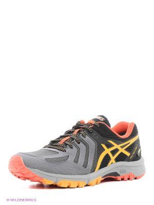Кроссовки GEL-FujiAttack 5 G-TX ASICS. Цвет: черный, серый, оранжевый