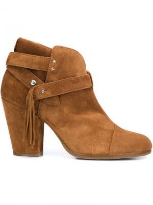 Ботинки по щиколотку с бахромой Rag & Bone. Цвет: коричневый