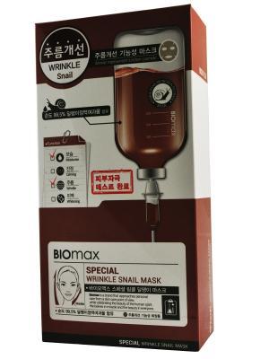 Маска с экстрактом слизи улитки против морщин, 10шт. BIO max. Цвет: белый