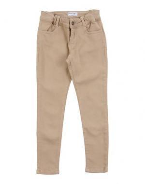 Джинсовые брюки PINKO UP. Цвет: песочный