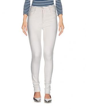 Джинсовые брюки (+) PEOPLE. Цвет: слоновая кость