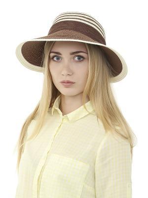 Шляпа Gusachi. Цвет: коричневый, белый