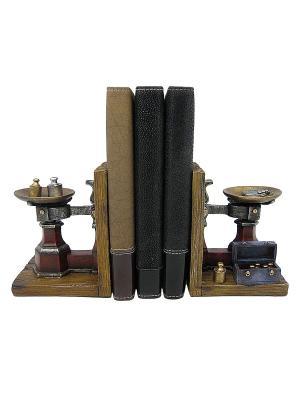 Набор держателей для книг Ретро весы Miolla. Цвет: коричневый