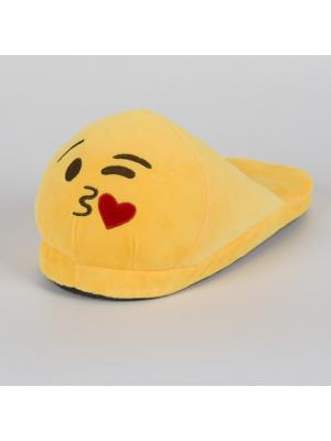 Тапки-смайлики Целую открытые SOXshop. Цвет: желтый, коричневый
