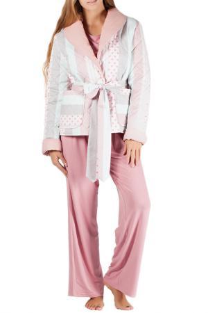 Комплект домашний MONNA MURR. Цвет: бирюзово-розовый