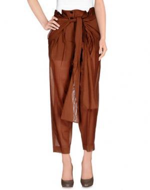 Повседневные брюки JONATHAN SAUNDERS. Цвет: коричневый
