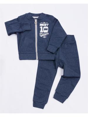 Комплект одежды: жакет, брюки Mark Formelle. Цвет: синий, белый