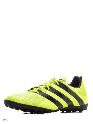 Бутсы ACE 16.4 TF  SYELLO/CBLACK/SILVMT Adidas. Цвет: салатовый