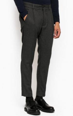 Серые зауженные брюки из трикотажа DRYKORN. Цвет: серый