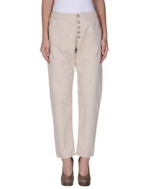 Повседневные брюки TUA NUA. Цвет: бежевый